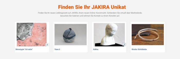 JAKIRA – Online-Marktplatz für Kunst