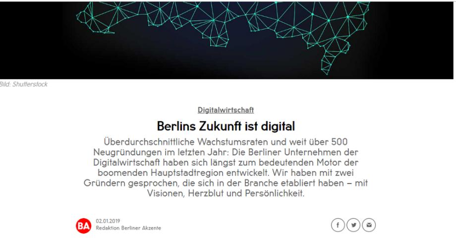 Berlins Zukunft ist digital